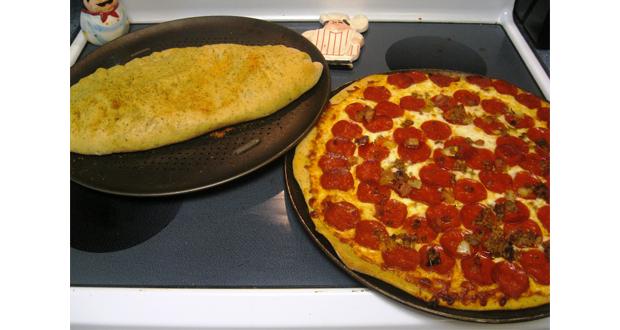 Aluat de pizza cu usturoi